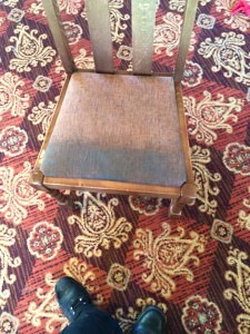 dirty pub chair
